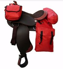 Nylon Horse Western Saddle Bags Set of 3 For Trail Riding