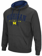 Michigan Wolverines Mens Charcoal Zone 3 Embroidered Pullover Hoodie Sweatshirt