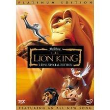 The Lion King DVD 2-Disc Set Platinum Edition Features an All-New Song FREE SHIP