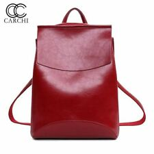CARCHI Fashion Women Backpack  High Quality Youth Travel Leather Backpack For Te
