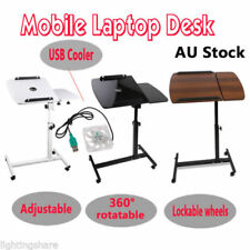 Rotating Mobile Laptop Desk Adjustable Notebook Computer iPad Stand Table W/Tray