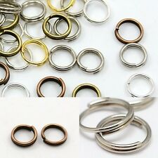 6mm Split Jump Rings Mixed Color Silver Gold Bronze Copper Plated Bead Findings