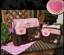 New Carter's Baby Changing Diaper Nappy Bag Mummy Mother Heart Handbag 6 pcs