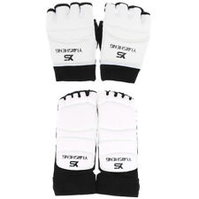 PU Karate Boxing Gloves and Foot Guards Taekwondo Martial Art Sparring Gear