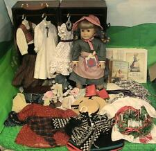 American Girl Pleasant Company Kirsten Doll w Trunk & 11 HTF Outfits etc Reduced