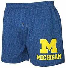 Michigan Wolverines Mens Blue Oversized Showdown Boxer Shorts