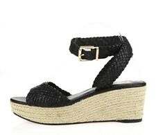 Womens VINCE CAMUTO SIGNATURE black leather wedge sandals sz. 10 M NEW!