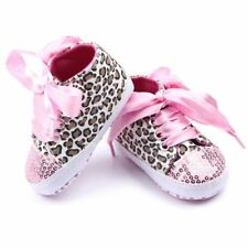 Toddler Baby Girls Shoes Floral Leopard Sequin Infant Soft Sole First Walker Co