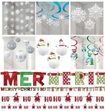 Snowflake Christmas Decorations Hanging Swirls Strings Decoration Xmas Banners