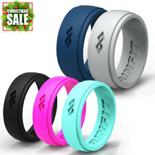 Silicone Wedding Rings | Wedding Bands for Men and Women- 5 Ring pack - RINFIT