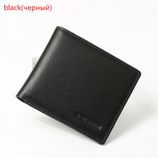 Genuine Leather Mens Wallets Purse Card Holder Coin Business Bifold Wallet