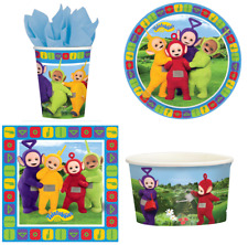 Teletubbies Table Children's Partyware - Plates/Cups/Napkins/Treat Tubs - NEW