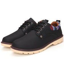 Fashion Mens US6-US10 Non-Slip Oxfords Comfy Leather Leisure Casual Sneakers VEA