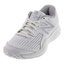 NEW BALANCE - Women`s 696v3 B Width Tennis Shoes White and Silver - (WC696WT3B-S