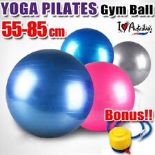 SWISS BALL YOGA HOME GYM EXERCISE PILATES FITNESS BALL W/ PUMP 55 65 75 85CM RO