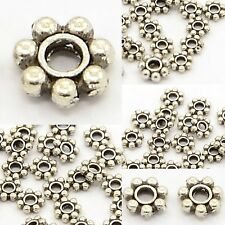 Bali Sterling Silver Plated Flower Daisy Spacer Beads 4.5mm NON TARNISH Beading