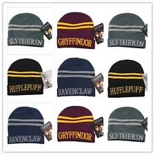 New Wool Cap Harry Potter Hat Beanie Gryffindor Hufflepuff Slytherin Ravenclaw