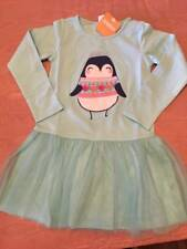 NWT Gymboree Enchanted Winter Penguin Applique Dress 4T or 5T