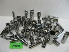 Matco Silver Eagle tools 3/8 drive sockets NEAR MINT! metric and sae SOLD EACH