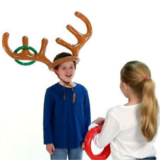 New Christmas Inflatable Reindeer Hat Ring Toss Xmas Holiday Party Toys Moose