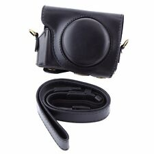 Fashion VIntage Camera Bag Leather Case DSLR Backpack Canon G9X With Strap NEW
