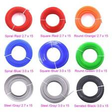 2.7mm/3.0mm x 15m Trimmer Line Fits Lawn mowers Trimmer Strimmer Brush Cutter