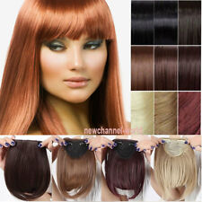 Hot Real Thick Hair Fringe Bang Hairpiece Clip In Front Hair Extensions Straight