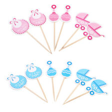 18X Hand-crafted Cupcake Toppers Picks Kids Birthday Party Baby Shower Decor