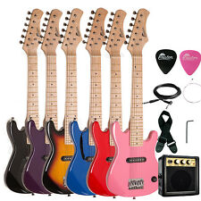 "30"" Kids Child Electric Guitar Package + Amp, Gig Bag, Strap, Cable, Picks"