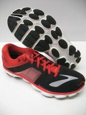 New Brooks PureFlow 4 Performance Running Training Shoes Sneakers Black Red Mens