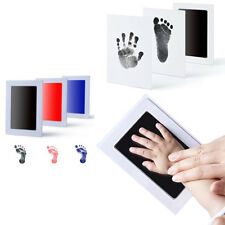 Non-Toxic NewBorn Keepsake Touch Baby Footprint Handprint Ink Pad Frame Inkless
