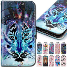 For Apple iPhone LG Emboss Pattern Case Card Slot Wallet PU Leather Cover Skin
