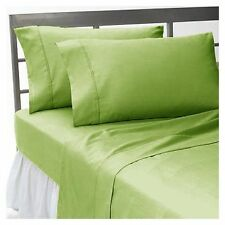 1000 TC EGYPTIAN COTTON FITTED/FLAT/DUVET/BED-SKIRT US-SIZES SAGE SOLID