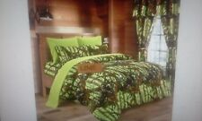 """17 PIECE LIME COMFORTER SET BY REGAL COMFORT   """"THE WOODS"""""""