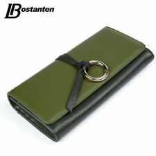 Leather Women Wallets Long Lady Purse Coins Credit Card Clutch Money Clips Hasp