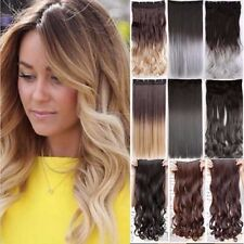 US Cheap Mega Long 100% Natural Extensions 5Clips in HAIR EXTENSIONS Full Head