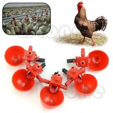 5Pcs Automatic Bird Coop Feed Poultry Water Drinking Cups Chicken Fowl Drinker