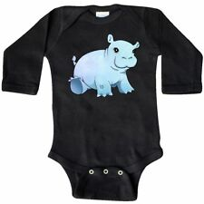 Inktastic Cute Baby Hippo Long Sleeve Creeper Animals Hippopotamus Fiona Zoo