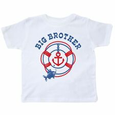 Inktastic Nautical Big Brother Toddler T-Shirt Life Preserver Anchor Fish Future