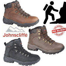 Johnscliffe Mens Canyon Leather Hiking Shoes Boy Hillwalking Trail Trek Boots UK