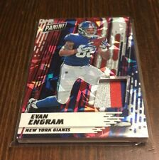 Evan Engram RC Giants 2017 Panini Day NFL Cracked Ice Jersey Patch Relic /25