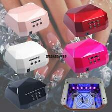 36W Nail Art LED UV Gel Cure Curing Nail Lamp Polish Dryer Timer IXH4