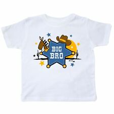 Inktastic Cowboy Big Brother Toddler T-Shirt Bro Hat Sheriff Western Badge Cute