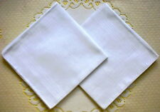12 pieces / 6 pieces large size 37cm x 37cm 100% cotton pure white handkerchiefs