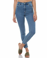 New A.Brand Women's Womens A High Skinny Ankle Basher Cotton Elastane Blue