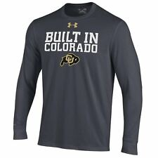 Colorado Buffaloes NCAA Men's Under Armour Long Sleeve Charged Cotton, NWT
