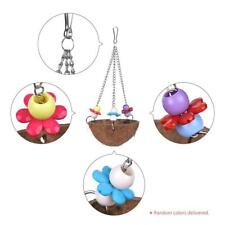 Bird Toy Swing Coco Wood Chew Accessories Toys Stand for Parrots R6J6