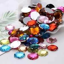 20Pcs Faceted Round Crystal Acrylic Loose Rhinestones Flatback 20mm DIY Crafts