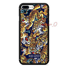 Luxury Kenzo Logo Flying Tiger Pattern Fitted Hard Case For iPhone7 8 Plus Cover