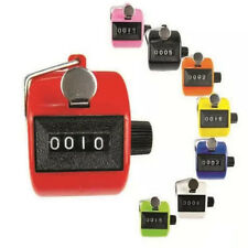Digital Hand Held Tally Clicker Counter 4 Digit Number Clicker Golf Chrome US